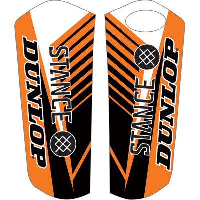 Attack Graphics Turbine Lower Fork Guard Decal Orange for KTM 530 EXC-R 2008-2011