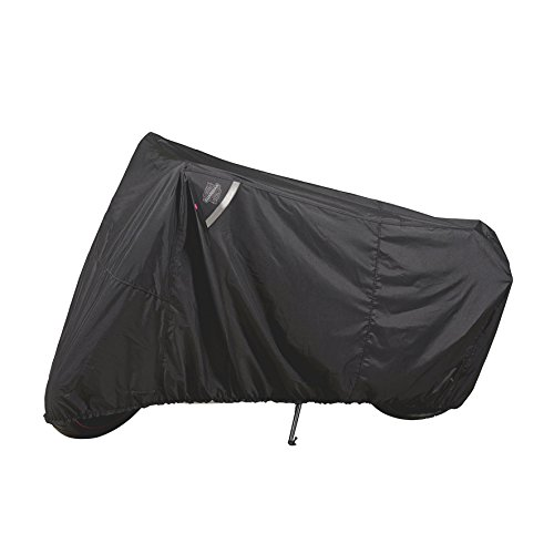 Guardian By Dowco - WeatherAll Plus IndoorOutdoor Motorcycle Cover - Lifetime Limited Warranty - Reflective - Waterproof - UV Protection - Heat Safe - Moisture Guard Vent - Black - Sportbike  50124-00