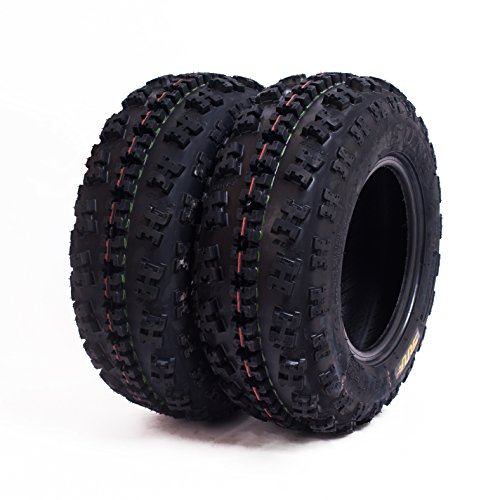 Set of 2 SunF A027 ATV Tire 22x7-11 Front 6 Ply